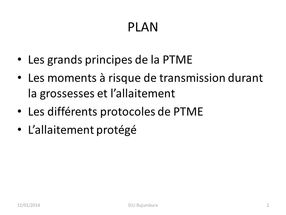 PLAN Les grands principes de la PTME