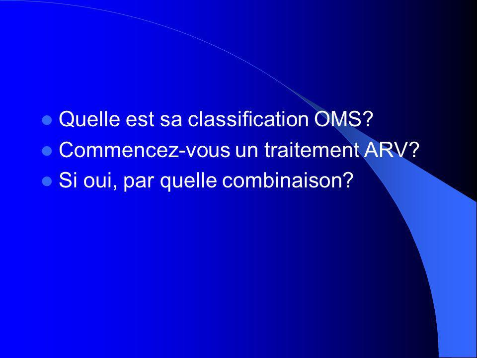 Quelle est sa classification OMS