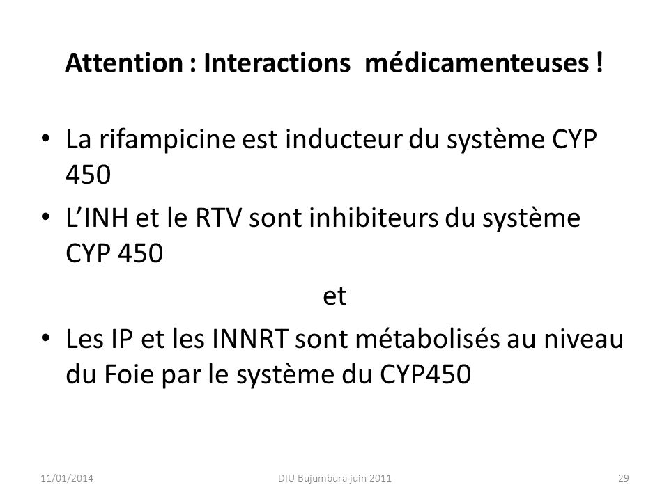 Attention : Interactions médicamenteuses !