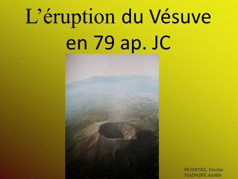 L'éruption du Vésuve en 79 ap. JC