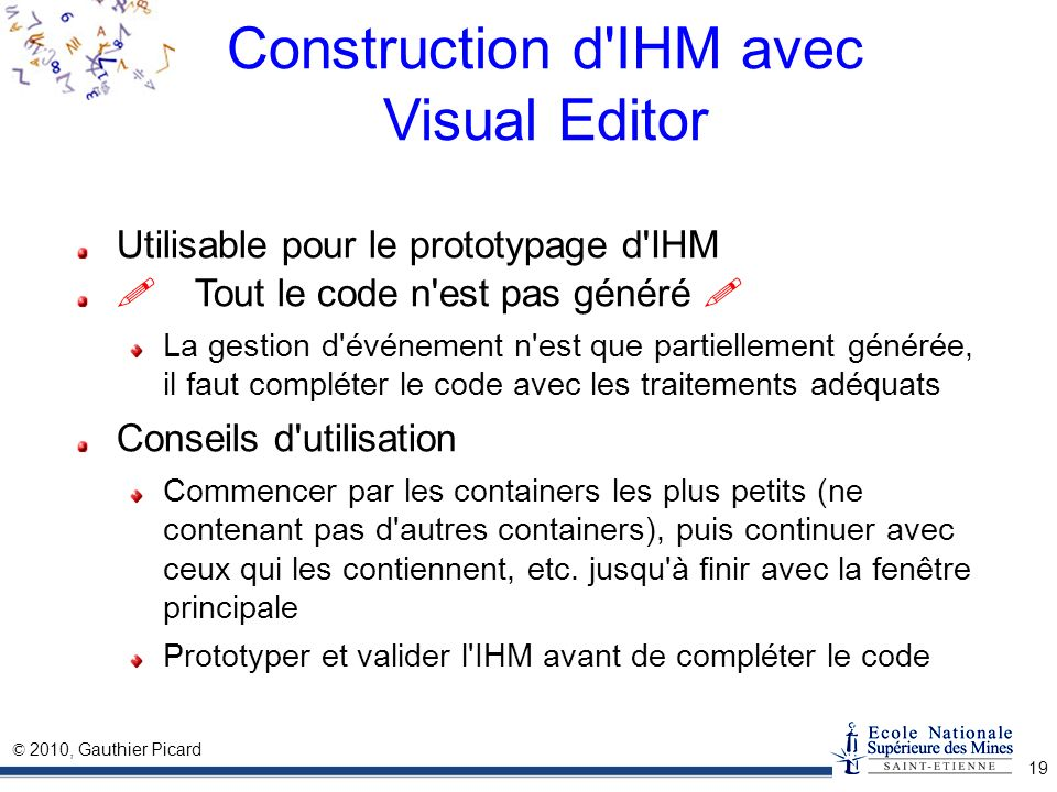 Construction d IHM avec Visual Editor