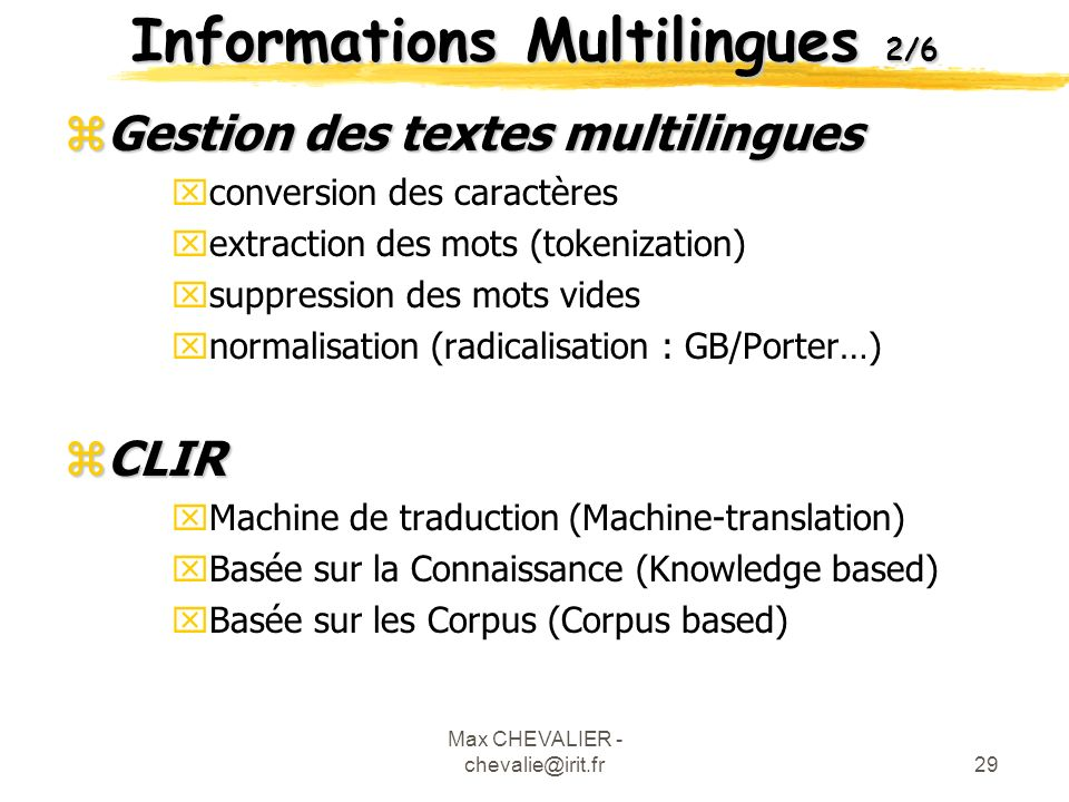 Informations Multilingues 2/6
