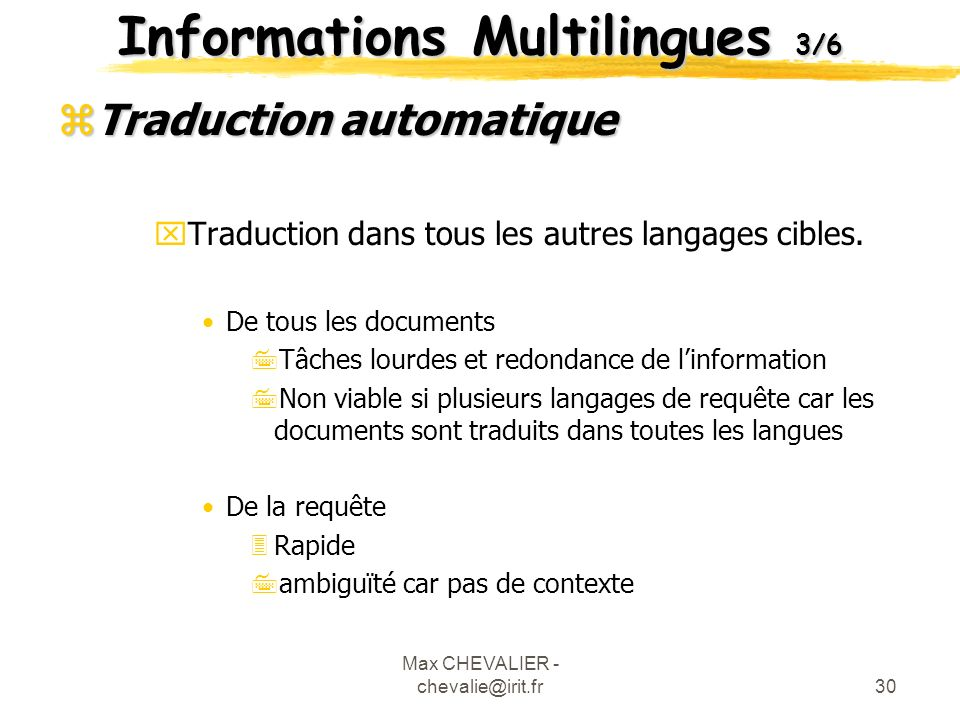 Informations Multilingues 3/6