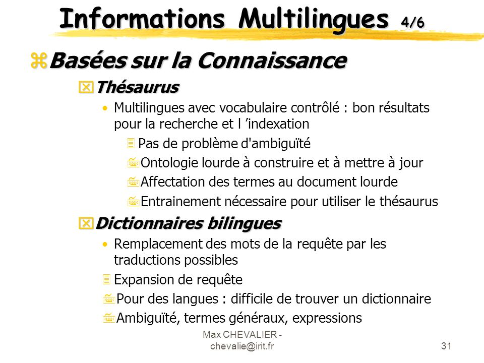 Informations Multilingues 4/6