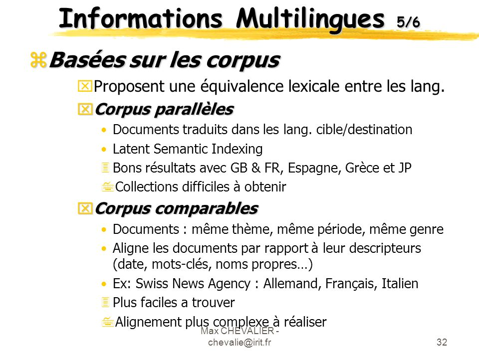 Informations Multilingues 5/6