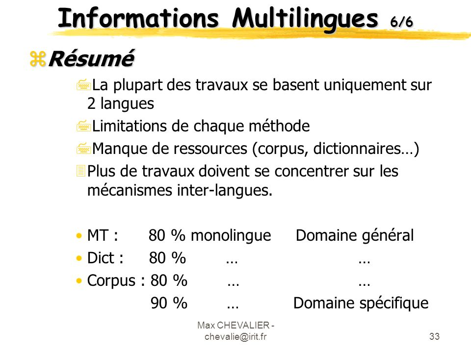 Informations Multilingues 6/6