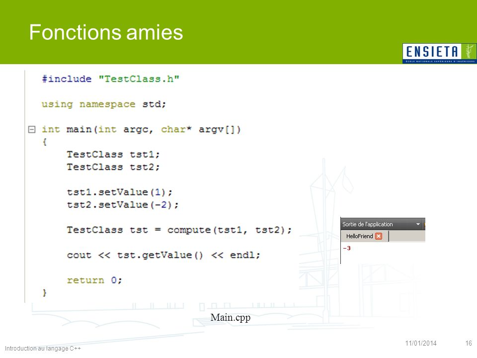 Fonctions amies Main.cpp 26/03/