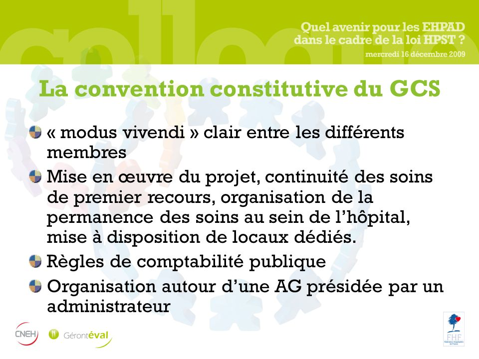 La convention constitutive du GCS