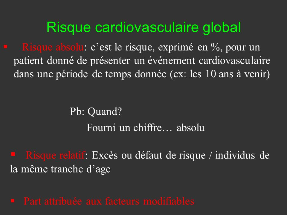 Risque cardiovasculaire global