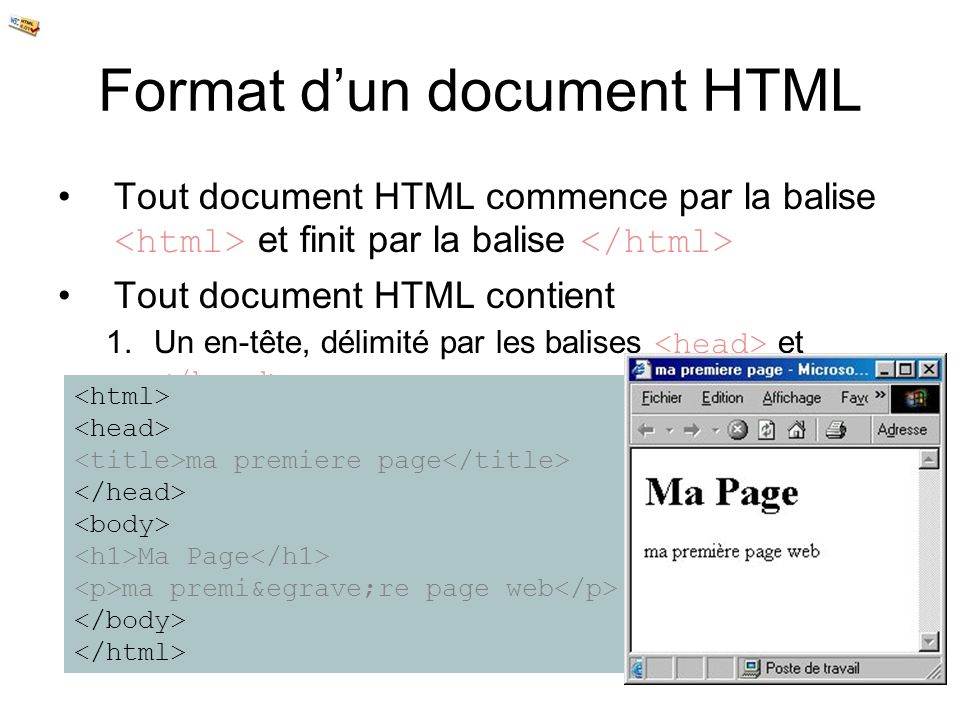 Format d'un document HTML