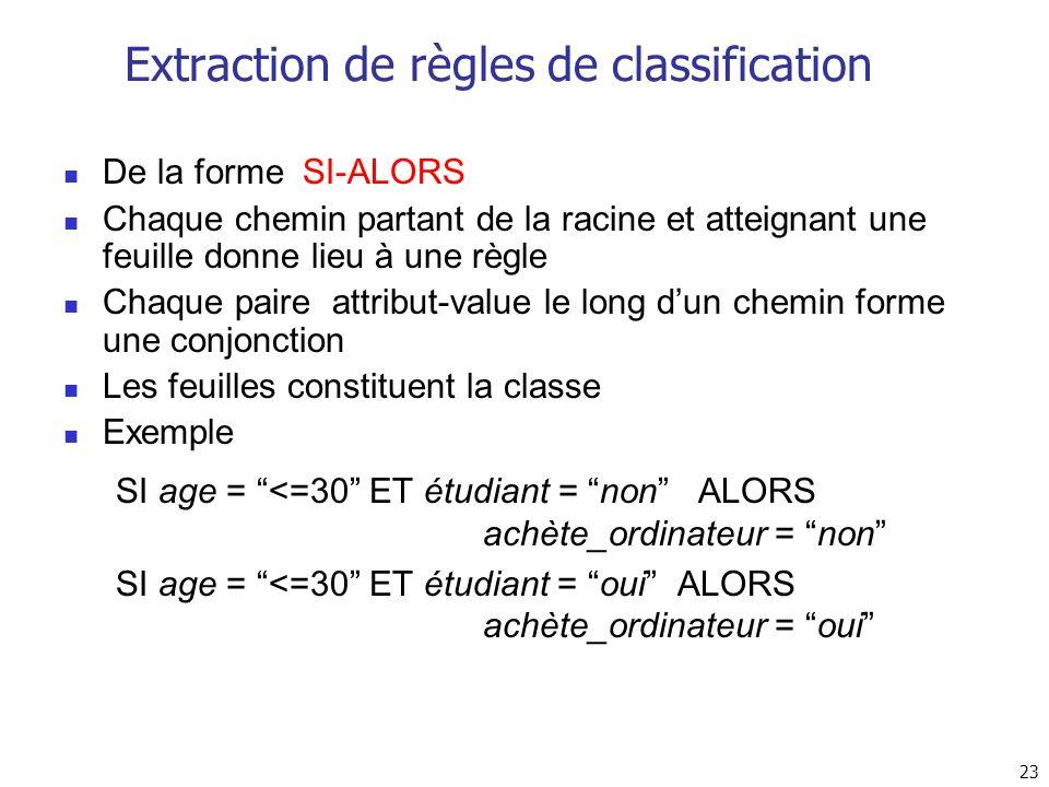 Extraction de règles de classification