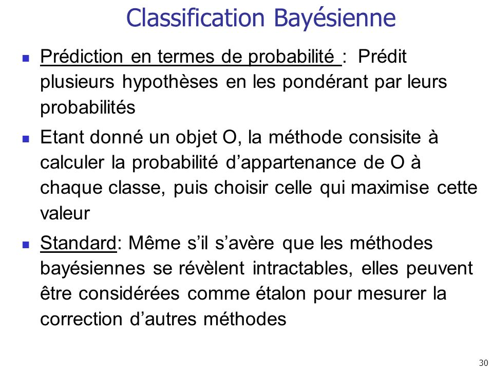 Classification Bayésienne