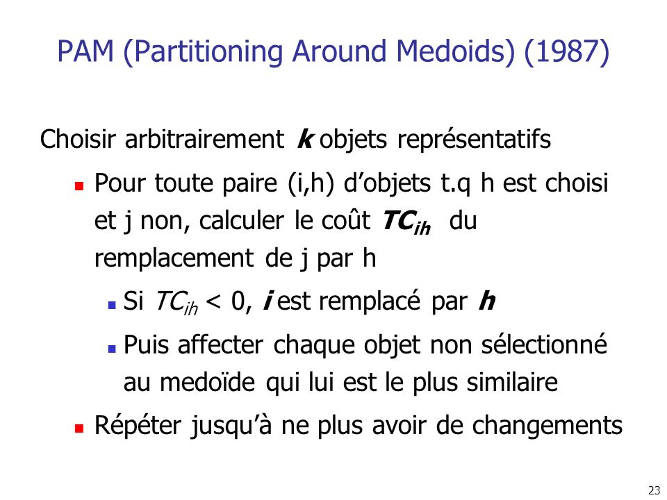 PAM (Partitioning Around Medoids) (1987)