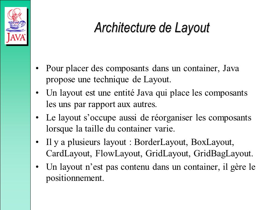 Architecture de Layout