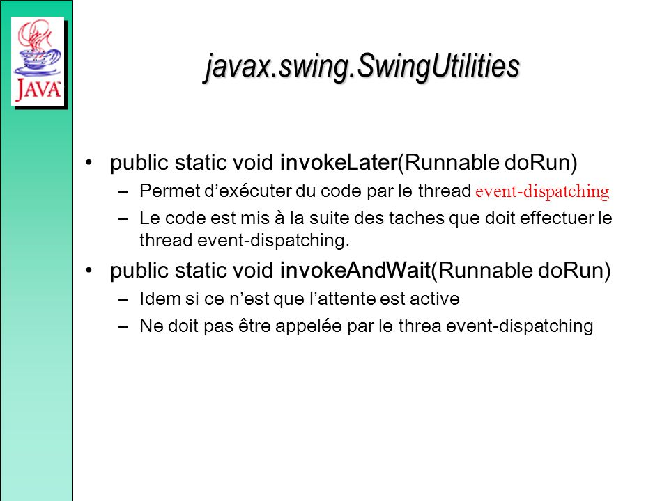 javax.swing.SwingUtilities