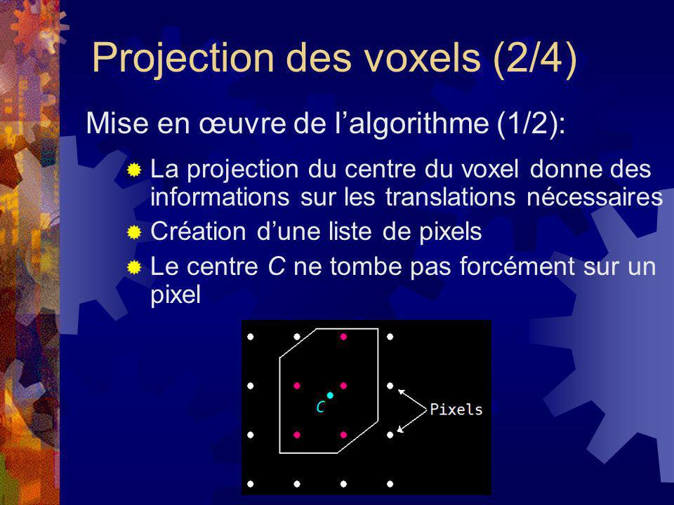 Projection des voxels (2/4)