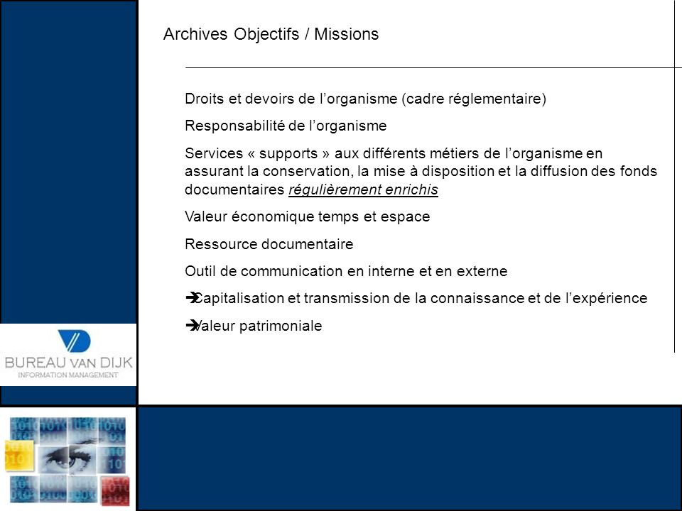 Archives Objectifs / Missions