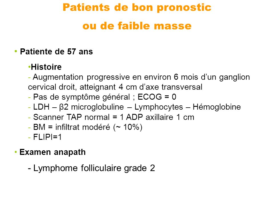Patients de bon pronostic