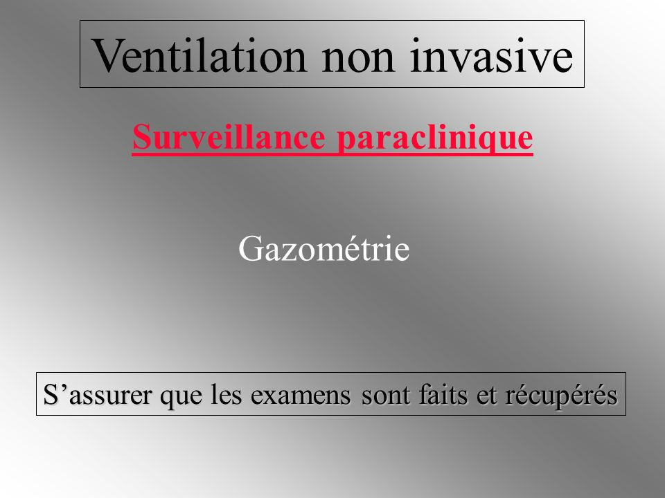 Ventilation non invasive