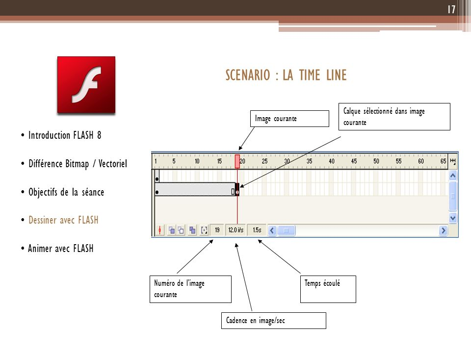SCENARIO : LA TIME LINE Introduction FLASH 8