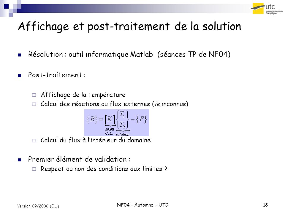 Affichage et post-traitement de la solution