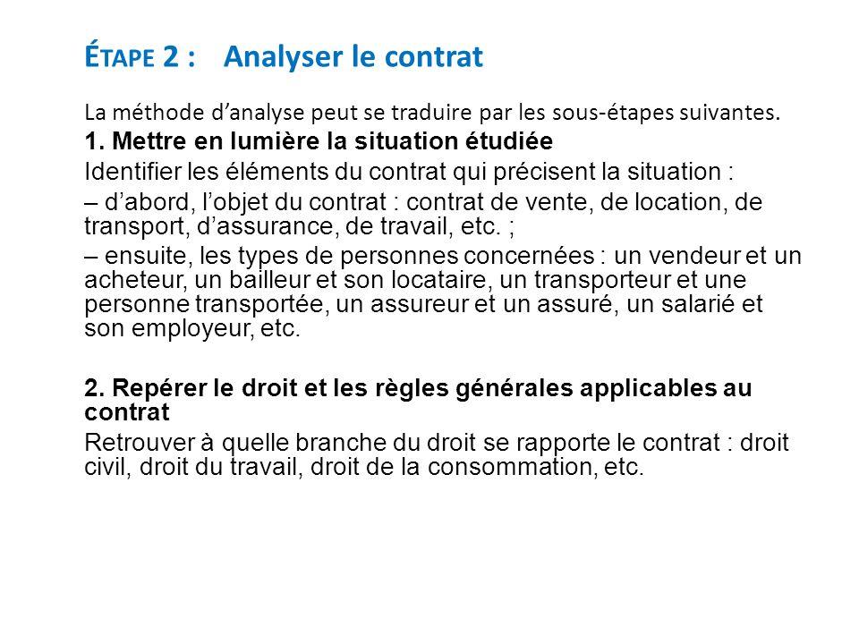 analyser un contrat de travail Fiche méthodologique Lire et analyser un contrat   ppt video  analyser un contrat de travail