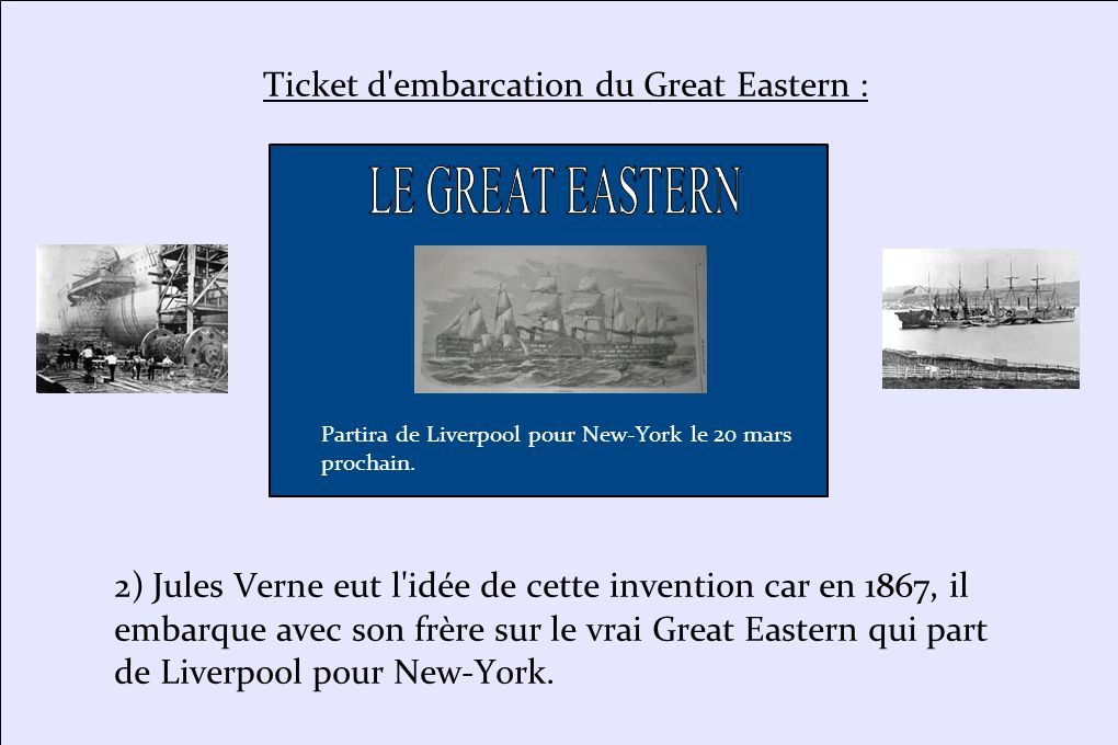 Ticket d embarcation du Great Eastern :