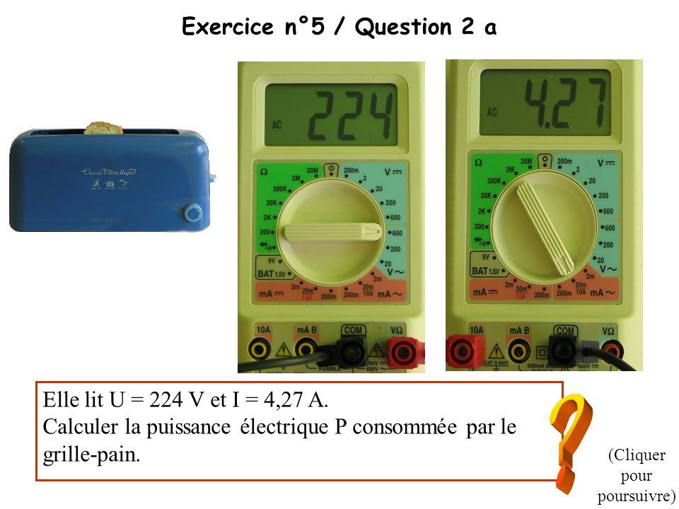 Exercice n°5 / Question 2 a