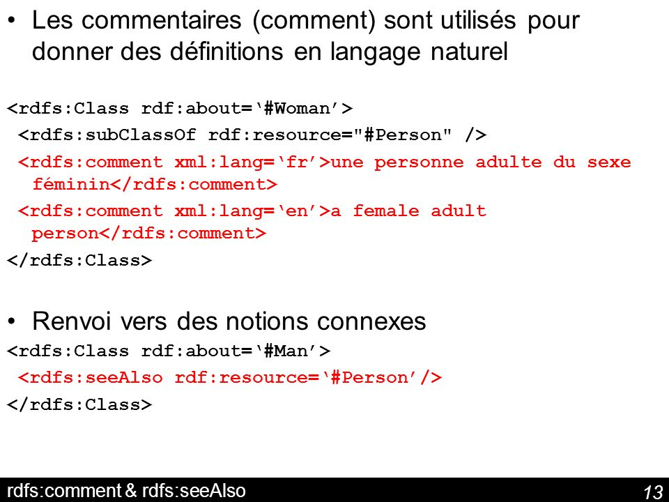 rdfs:comment & rdfs:seeAlso