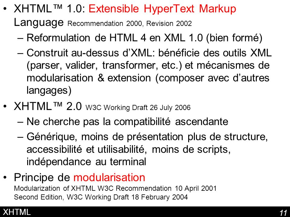 XHTML™ 2.0 W3C Working Draft 26 July 2006