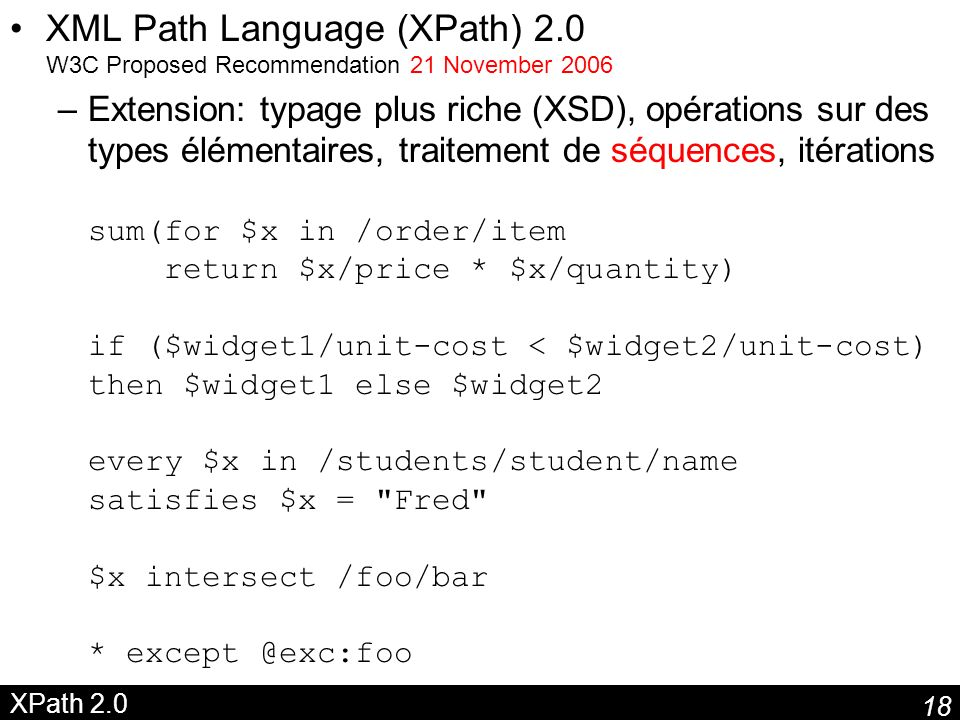 XML Path Language (XPath) 2
