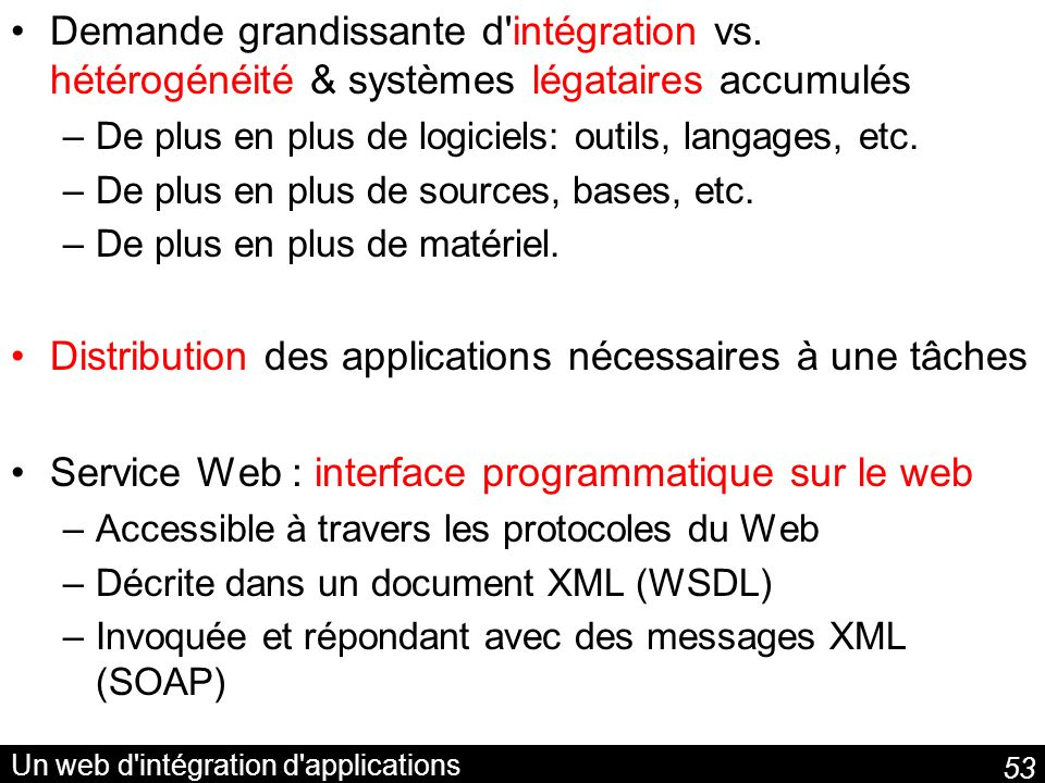 Un web d intégration d applications