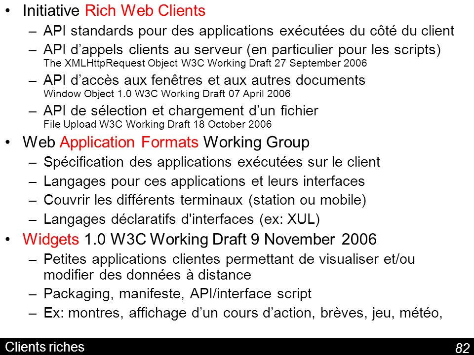 Initiative Rich Web Clients