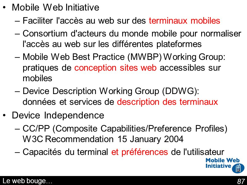Mobile Web Initiative Device Independence