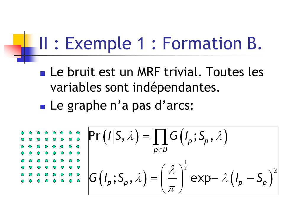 II : Exemple 1 : Formation B.