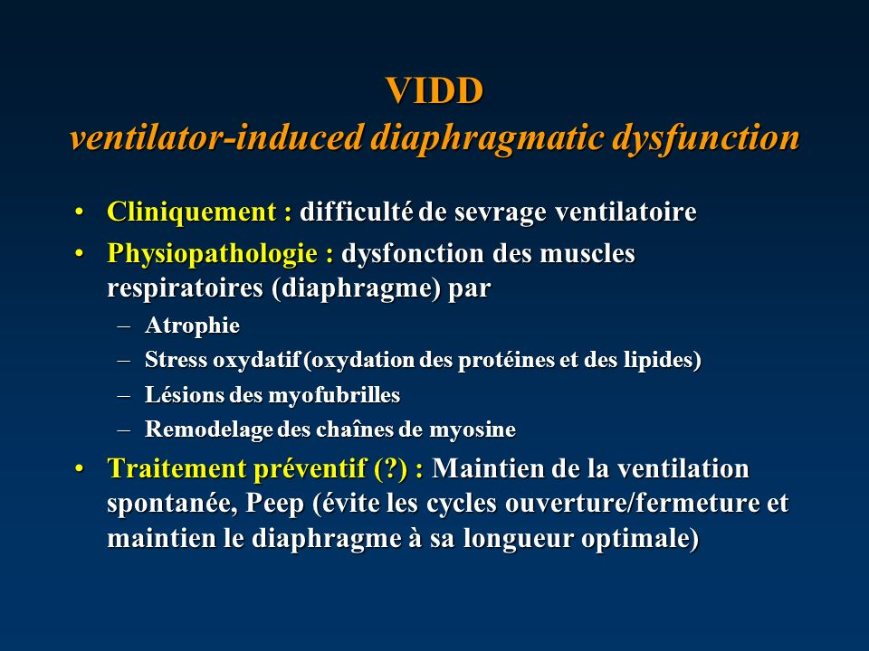 VIDD ventilator-induced diaphragmatic dysfunction