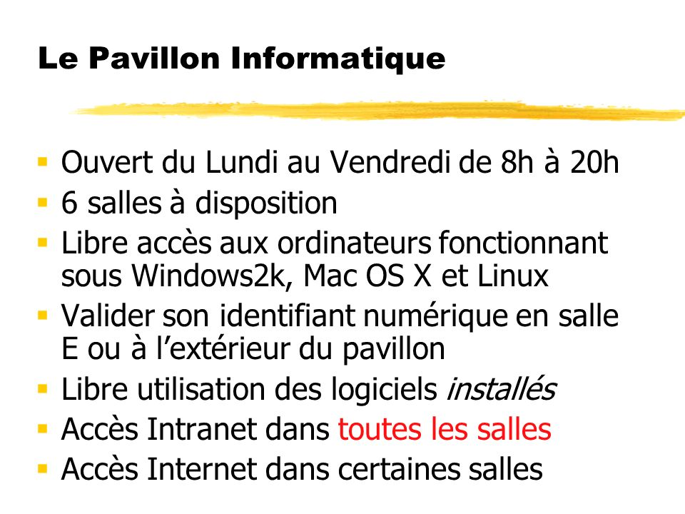Le Pavillon Informatique