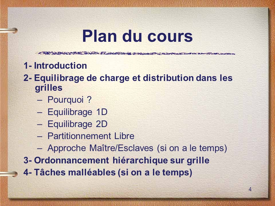 Plan du cours 1- Introduction
