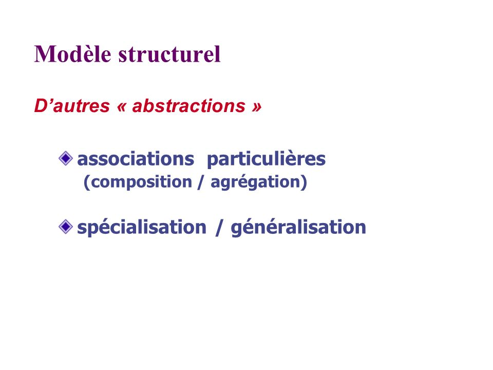D'autres « abstractions »