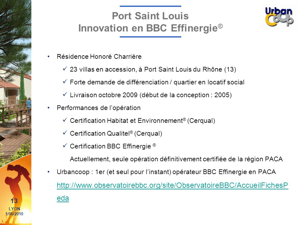 Port Saint Louis Innovation en BBC Effinergie®