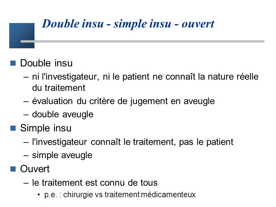Double insu - simple insu - ouvert