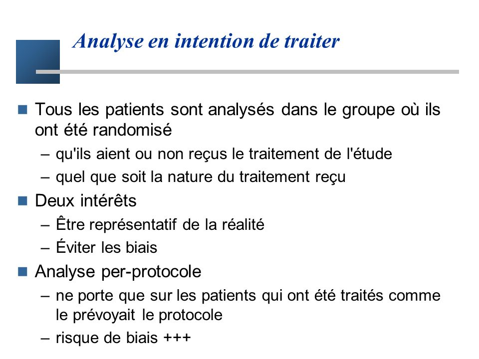 Analyse en intention de traiter