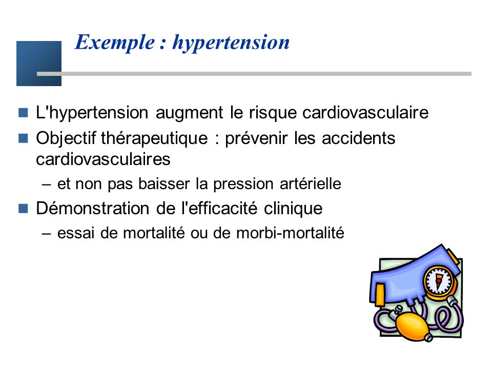 Exemple : hypertension
