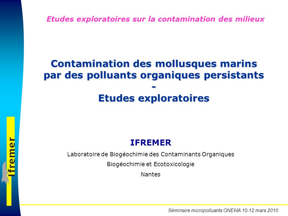 Contamination des mollusques marins