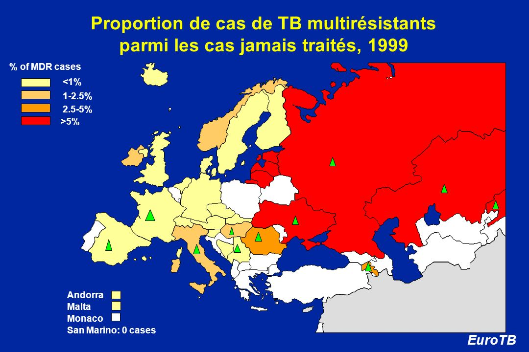 Proportion de cas de TB multirésistants