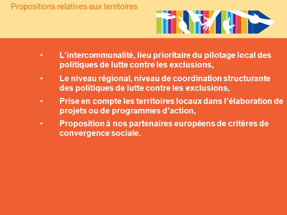 Propositions relatives aux territoires