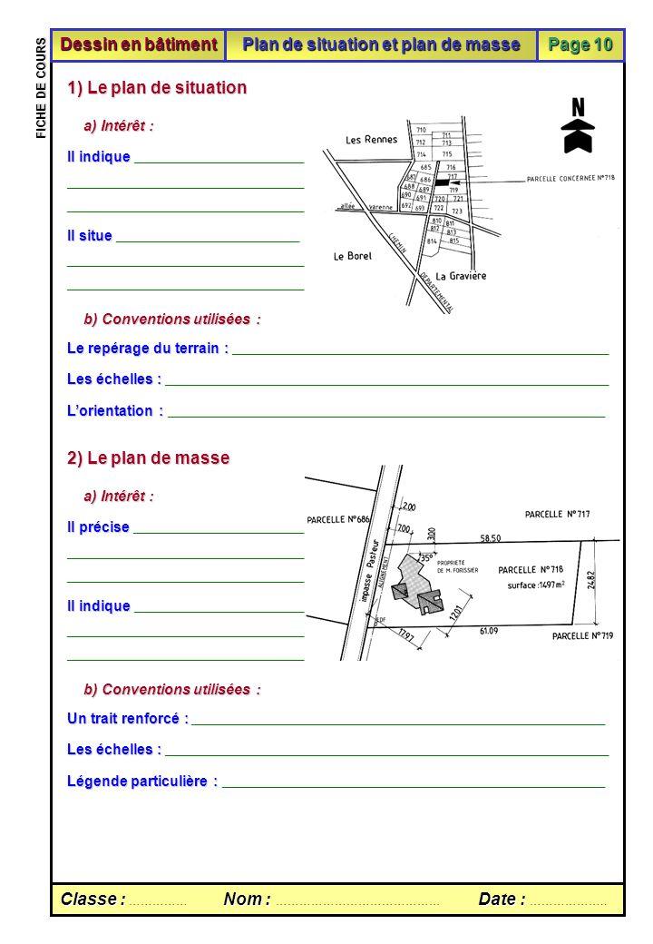 Fiche De Cours Sur Le Plan De Situation Et Le Plan De Masse Ppt