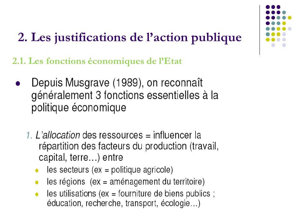 2. Les justifications de l'action publique