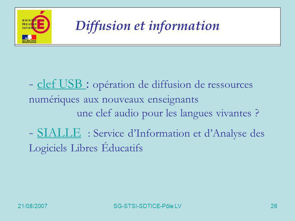 Diffusion et information