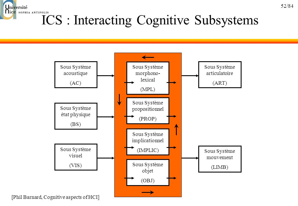 ICS : Interacting Cognitive Subsystems